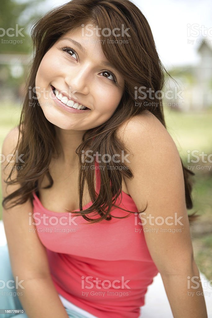Hopeful young woman royalty-free stock photo