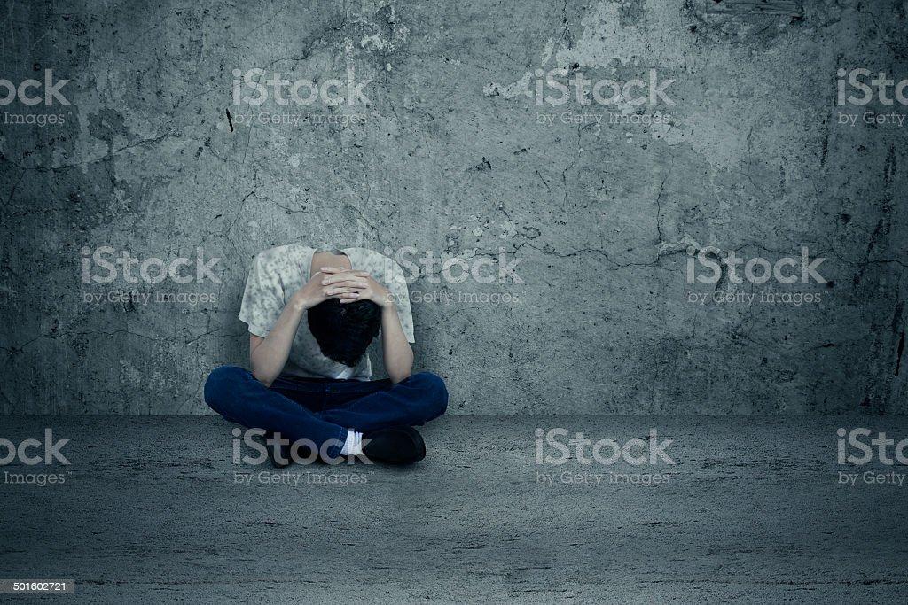 Desesperación hombre - foto de stock