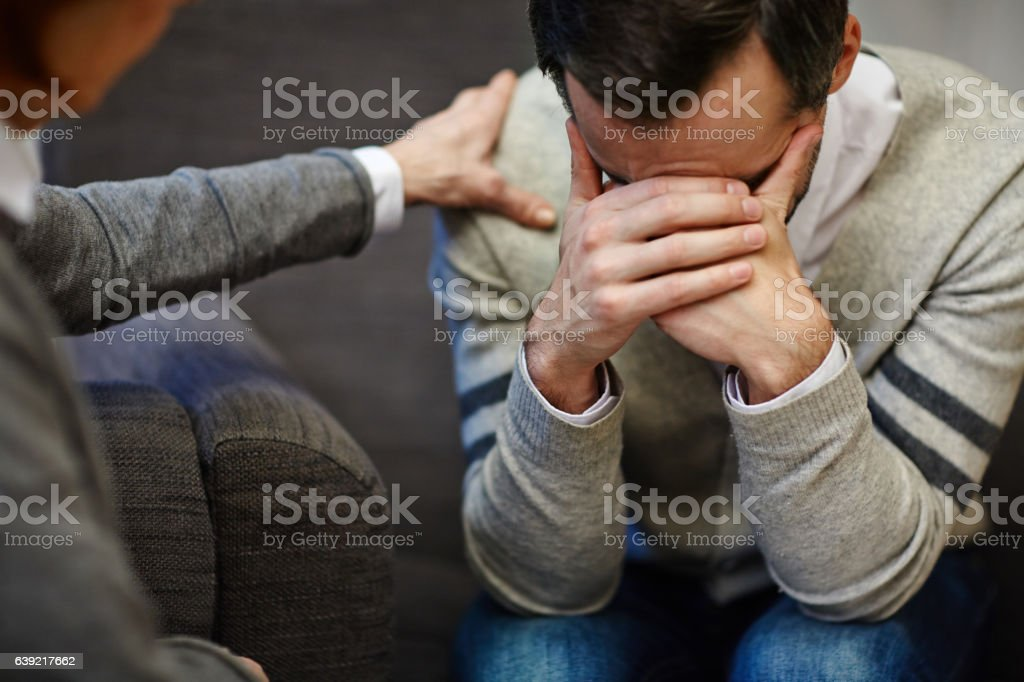 Hopeless man stock photo