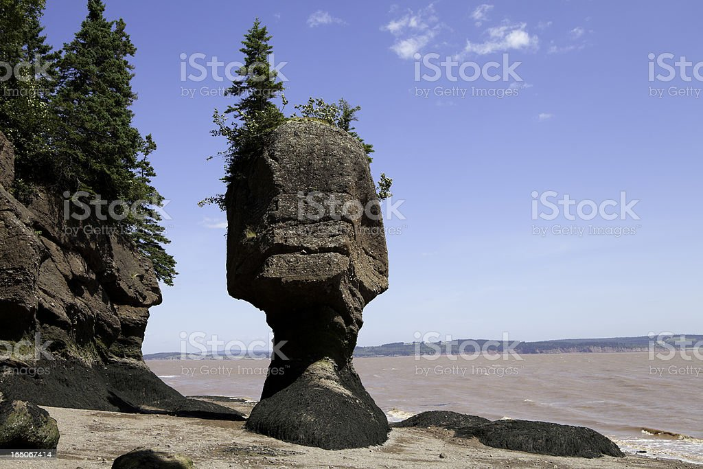 Hopewell Flower Pot Rocks stock photo