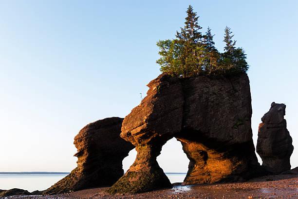 Hopewell Felsen in Kanada Sonnenaufgang – Foto