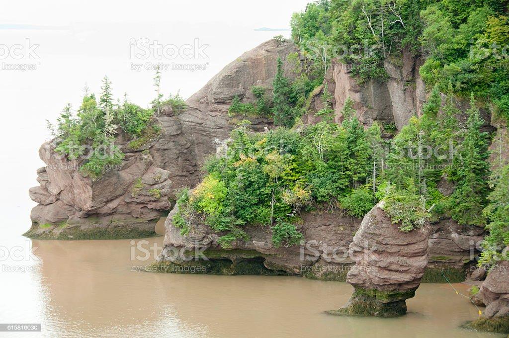 Hopewell Rocks - New Brunswick - Canada stock photo