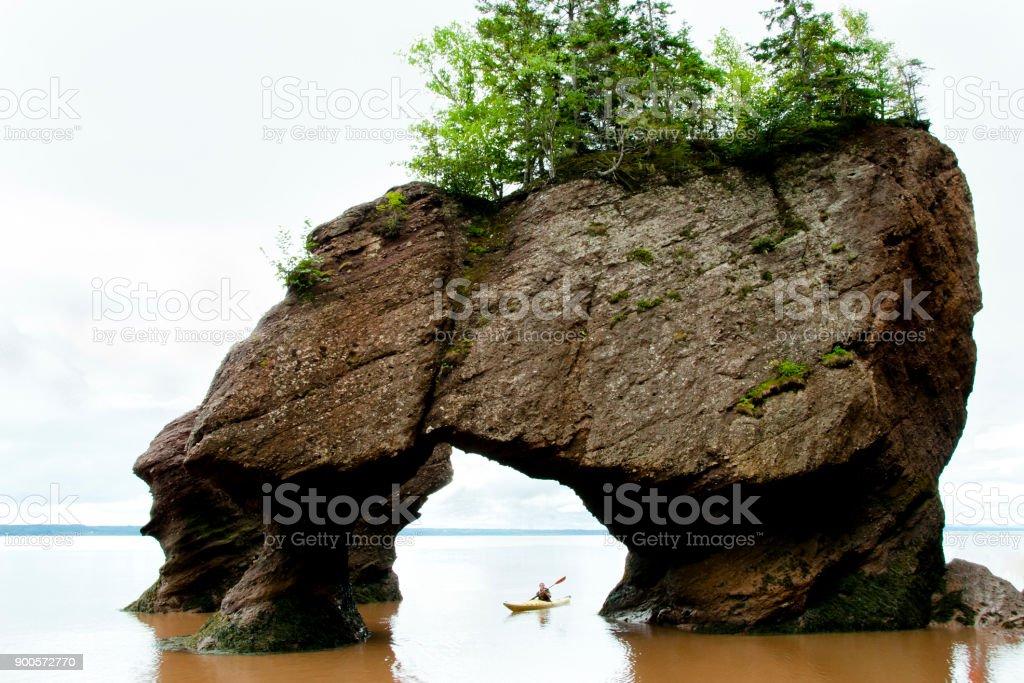Hopewell Rocks - New Brunswick stock photo