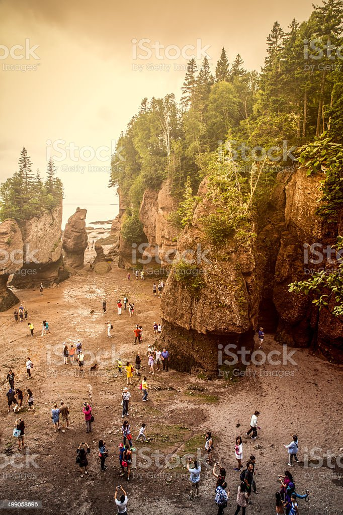 Hopewell Rocks stock photo