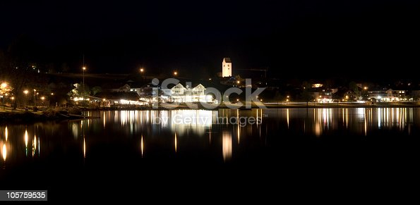 istock Hopfen am See - Germany in the night 105759535