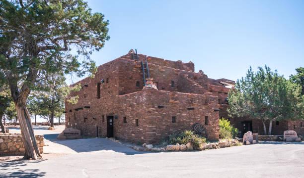 hopi house, grand canyon village. arizona, usa - hopi stock photos and pictures