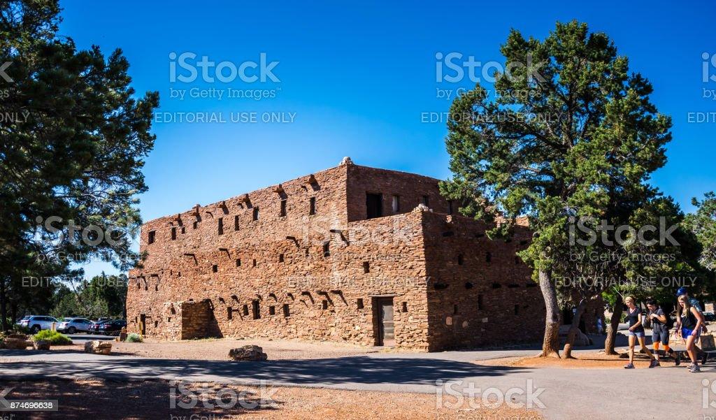 Hopi House. Grand Canyon Village Tourist Attractions and Grand Canyon National Park, Arizona stock photo