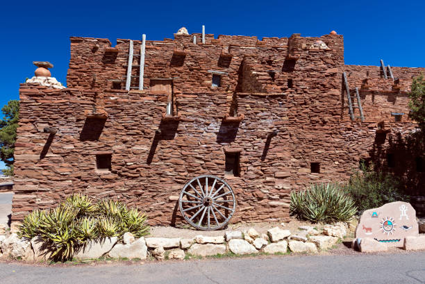 hopi house in grand canyon nation park - hopi stock photos and pictures