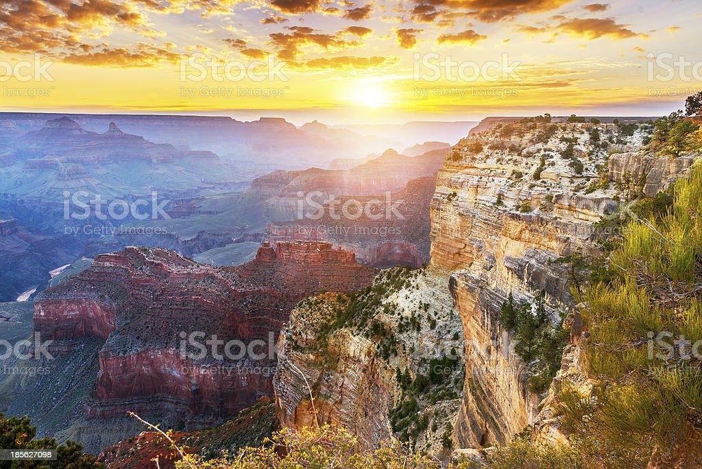 Hopi Point at Grand Canyon National Park stock photo