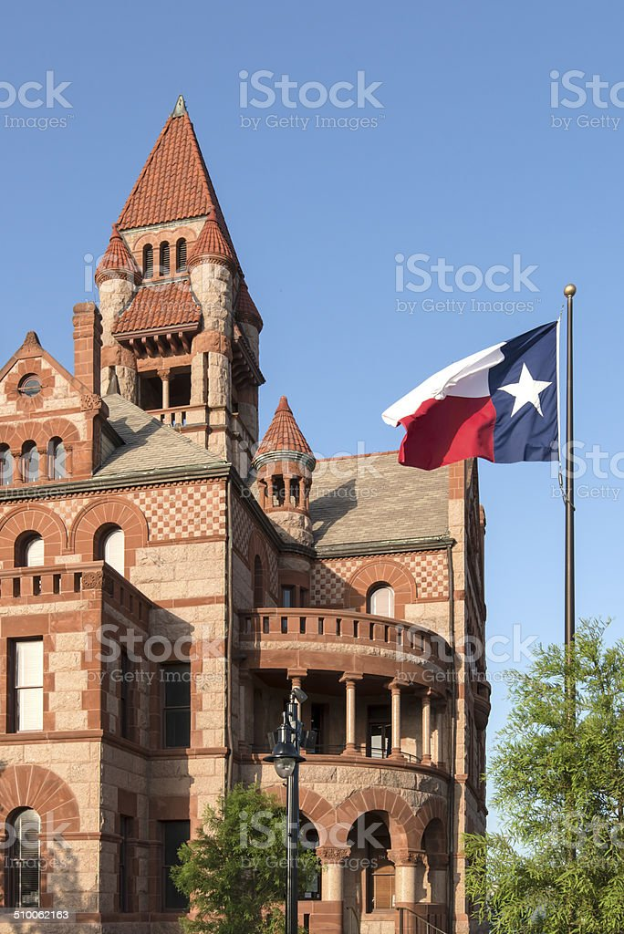 Hopkins County Texas Courthouse in Sulphur Springs Texas stock photo
