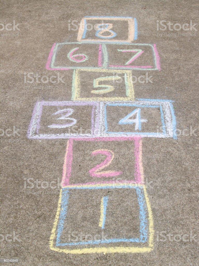 Hopscotch board stock photo