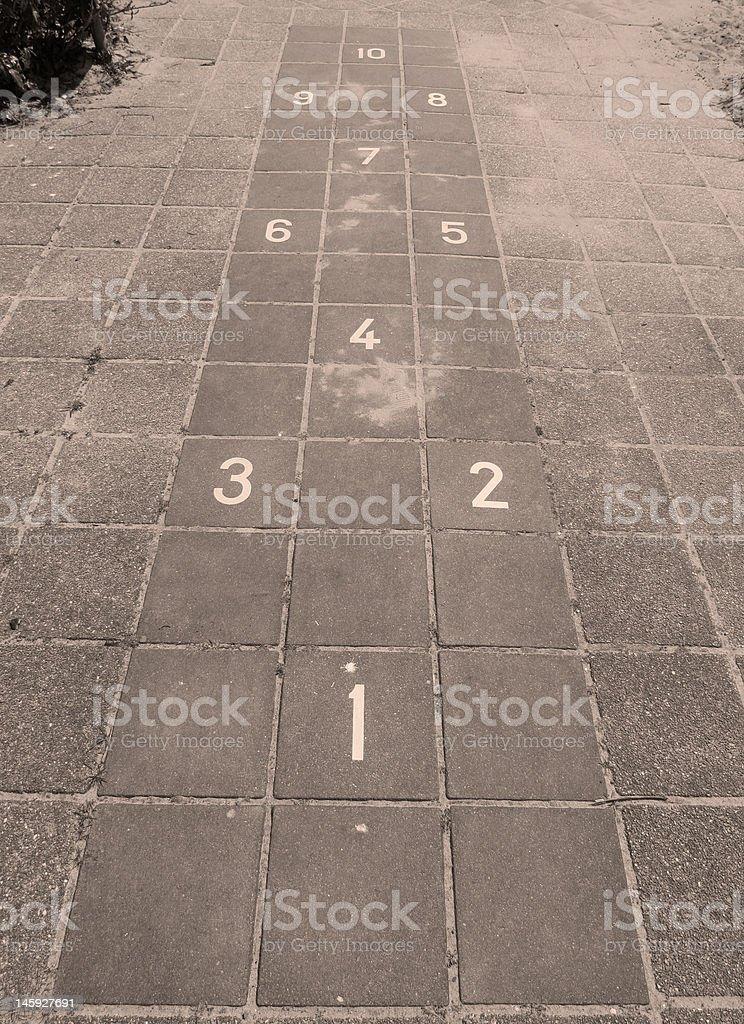 Hopscotch on a Playground royalty-free stock photo