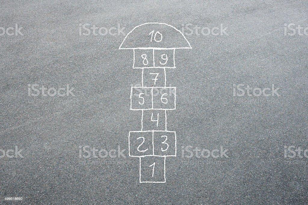 Hopscotch stock photo