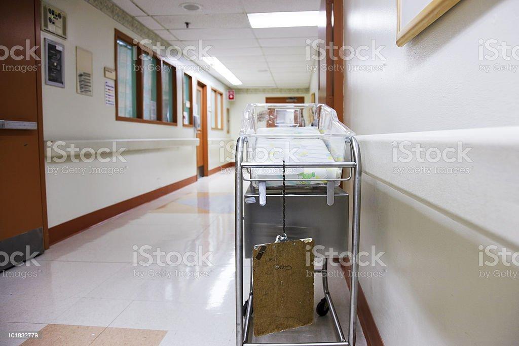 Hopsital coridor Hospital corridor at the nursery unit Color Image Stock Photo