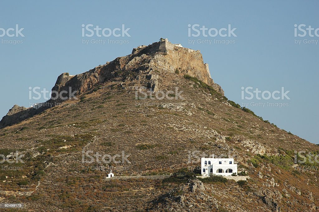 Hora castle royalty-free stock photo