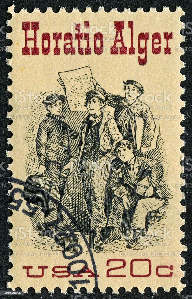 Horatio Alger Stamp stock photo