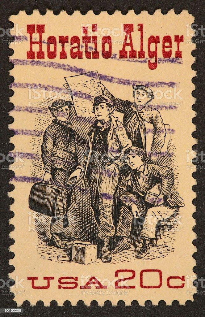 Horatio Alger stamp royalty-free stock photo
