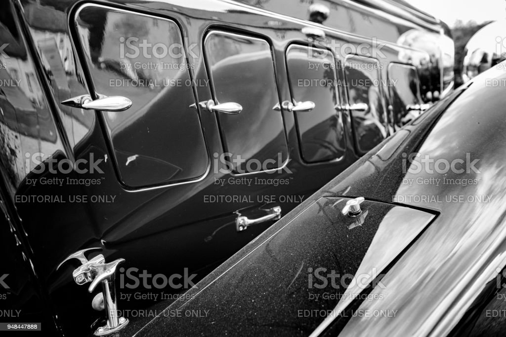 Horch 670 V12 Vintage Classic Car Detail Stock Photo