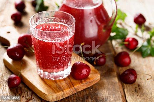 Homemade cherry horchata