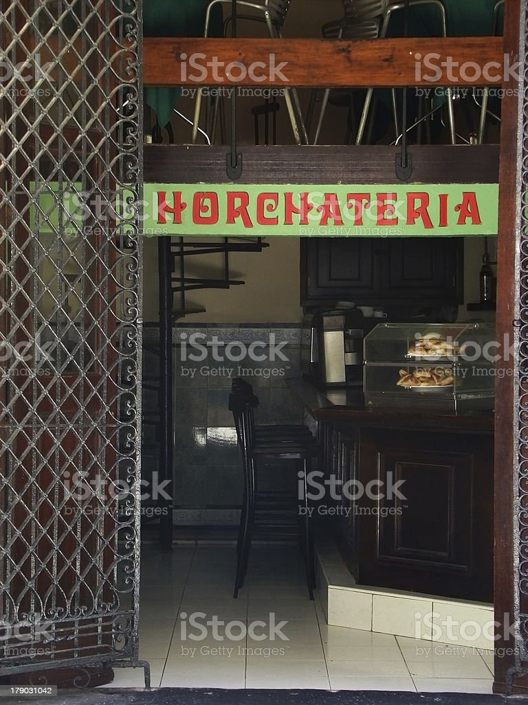 Horchata place royalty-free stock photo