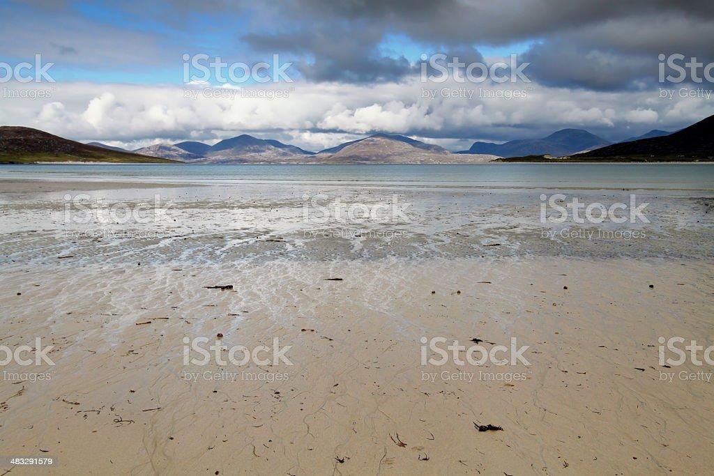 Horgabost beach, Harris stock photo