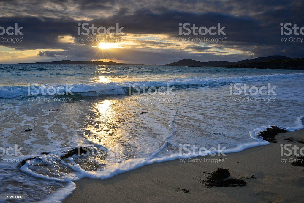 Horgabost Beach Scotland stock photo