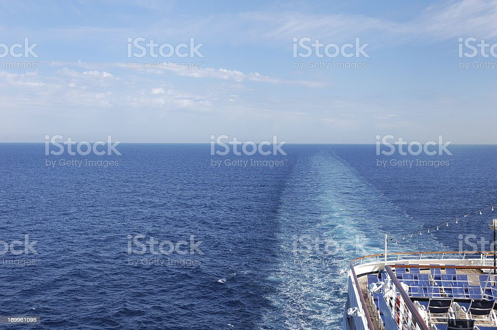 Horizon from Cruise Ship royalty-free stock photo
