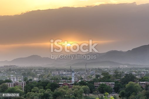 Sunset view of capital of Pakistan,Islamabad