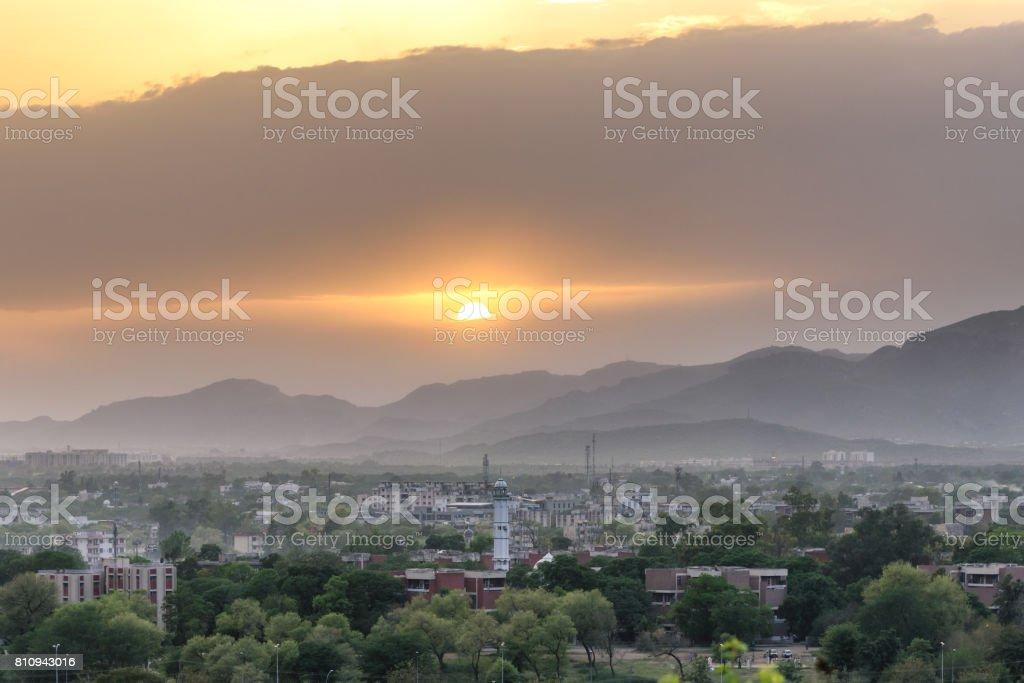 Horizon Islamabad stock photo
