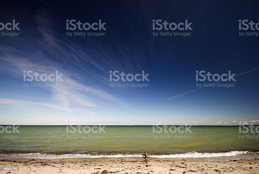 Horizon over water royalty-free stock photo