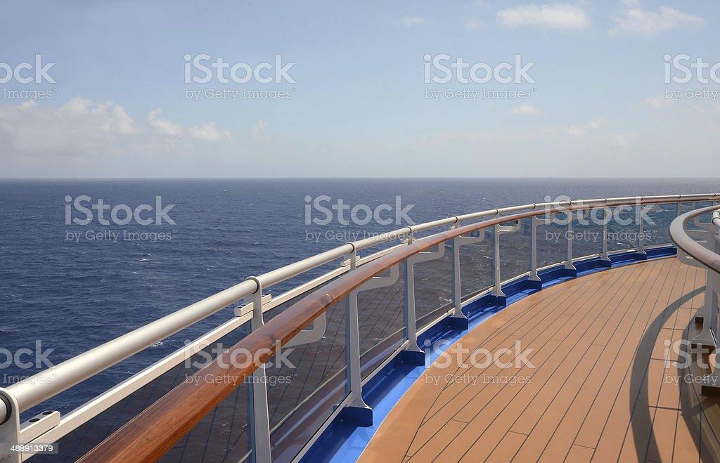 horizon over water seen from balcopy stock photo