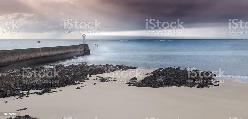 Horizon stock photo