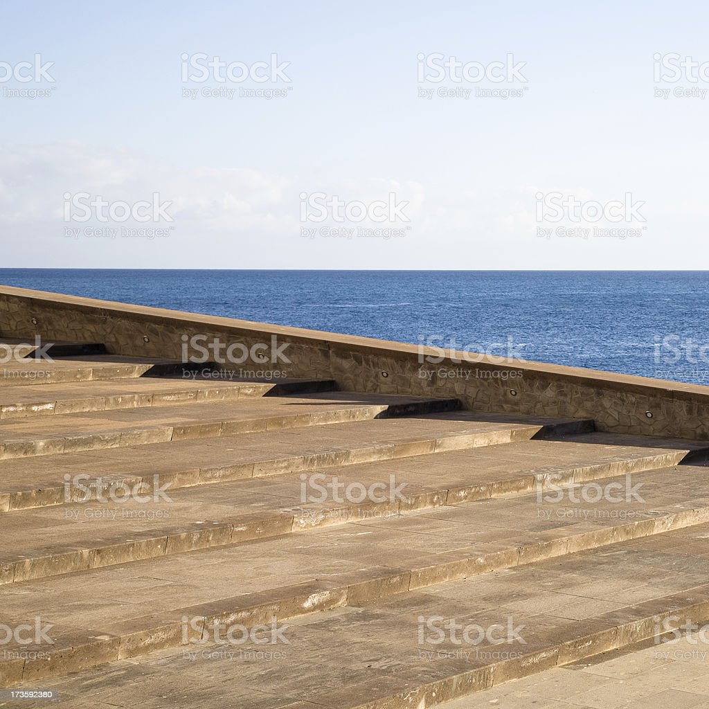 horizon stairs royalty-free stock photo