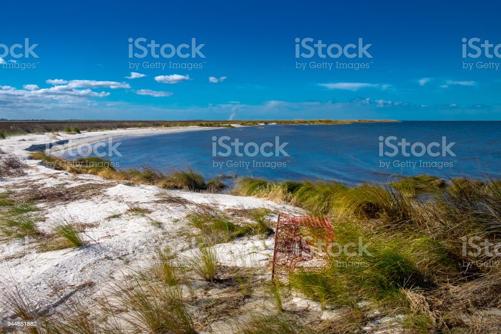 Horizon View on Pamlico Sound stock photo