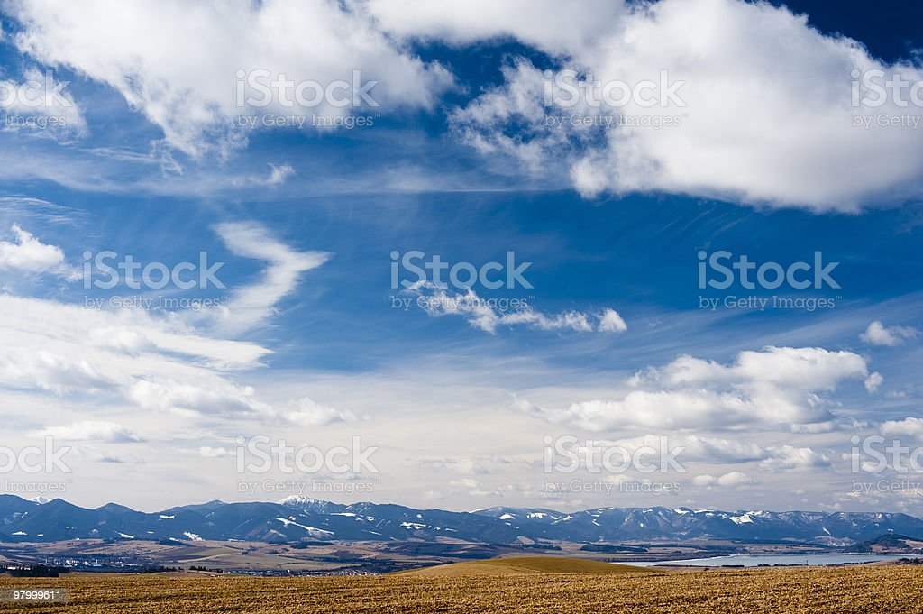 horizon with mountains royalty-free stock photo