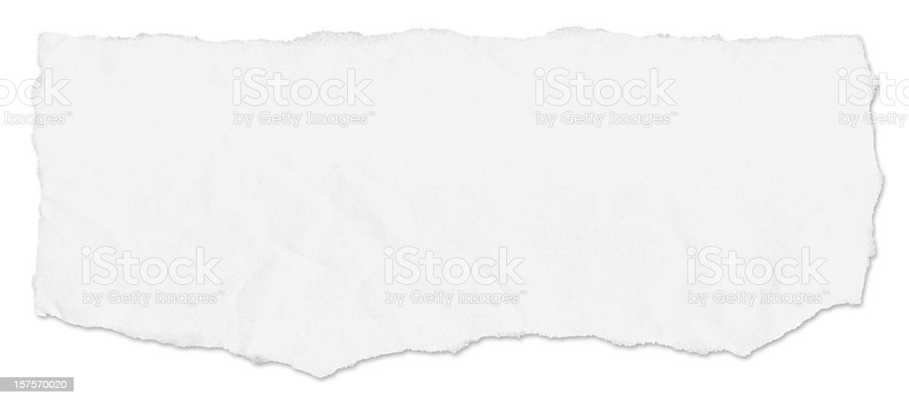 Horizonal paper tear royalty-free stock photo