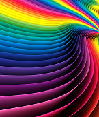 Horizontal abstract rainbow background