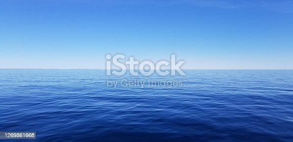 Seascape of water from a transportation vessel whit beautiful shapes in water
