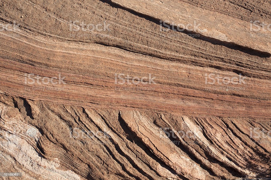 Horizontal and vertical with rock strata stock photo