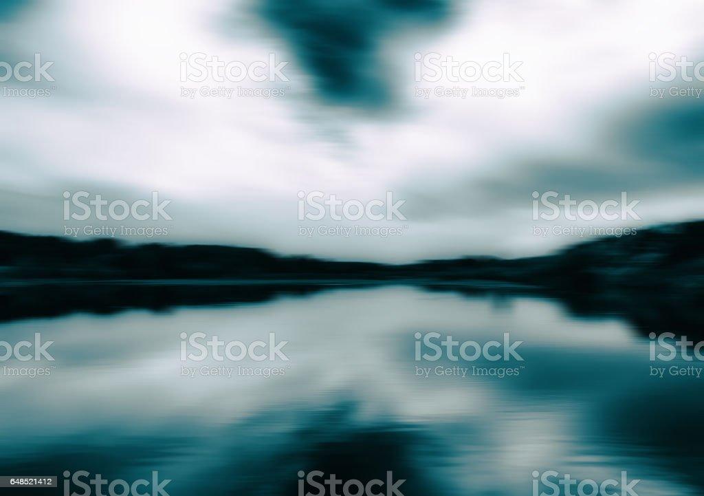 Horizontal aqua sepia landscape motion abstraction background ba stock photo