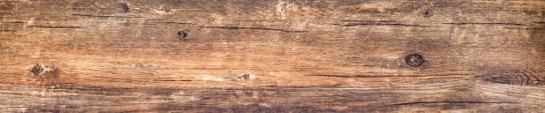 Horizontal banner with vintage wood texture stock photo