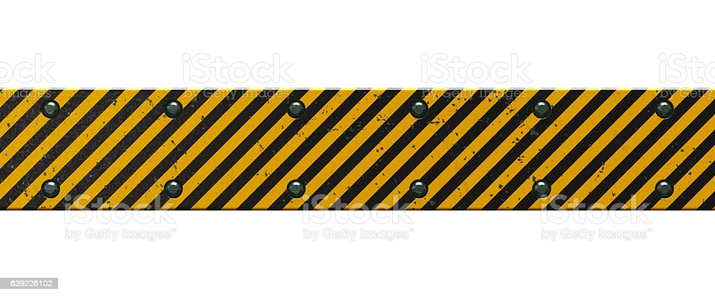 Horizontal Bar With Danger Stripes stock photo