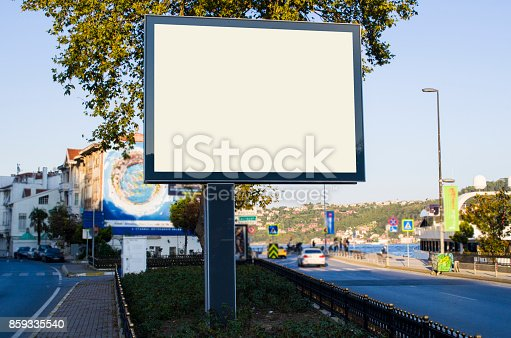 istock horizontal blank billboard on the city street in background buildings and road with cars mock up 859335540