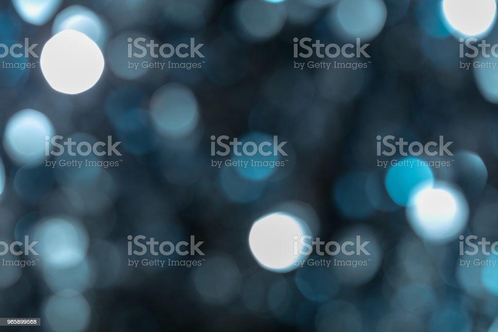 Horizontal Blue Bokeh stock photo