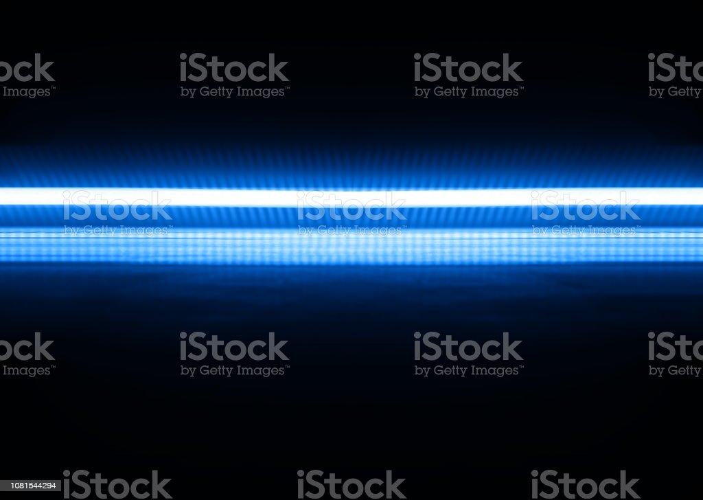 Fundo de ilustração de linha horizontal azul néon - foto de acervo
