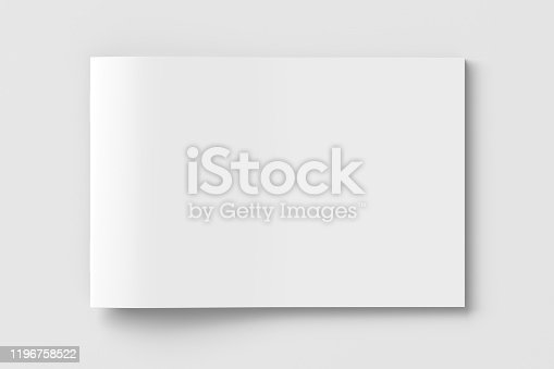 istock Horizontal brochure or booklet cover. 1196758522