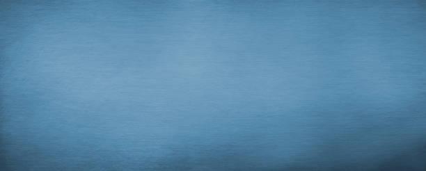 Horizontal Brushed blue metal texture stock photo