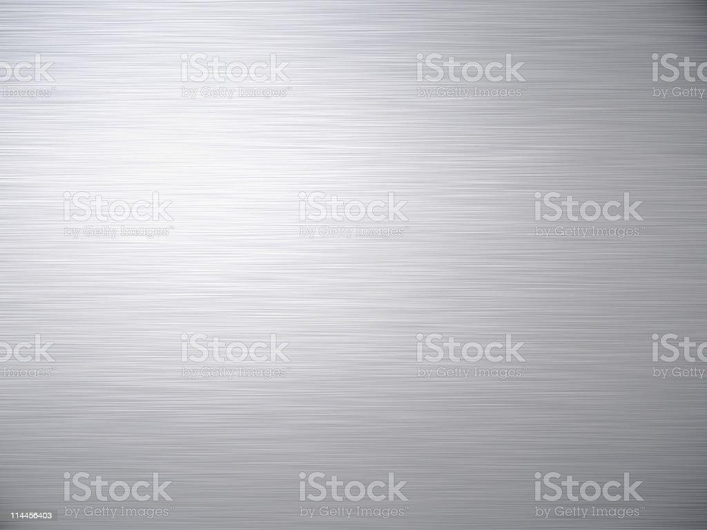 Horizontal brushed steel background texture stock photo
