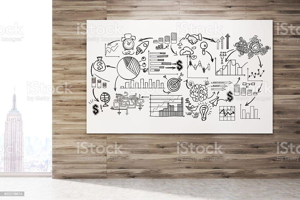 Horizontal business strategy poster stock photo