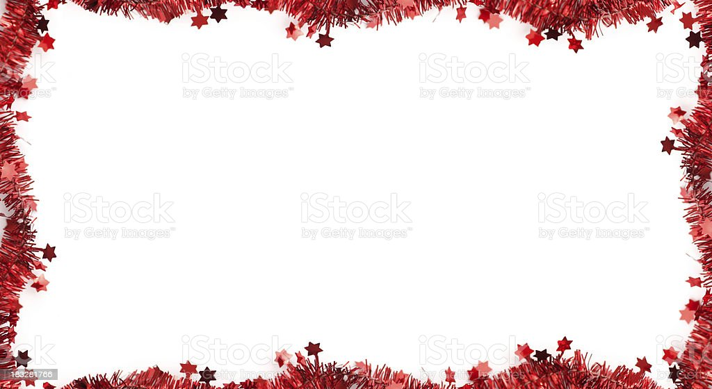 Horizontal Christmas Tinsel Frame Stock Photo & More Pictures of ...
